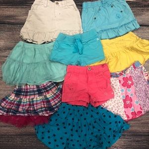 Bottoms - 3T Shorts and Skirts lot (9 total)